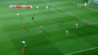 Michael Krmencik scores in the match Czech Republic vs Norway