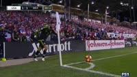 Rafael Marquez scores in the match USA vs Mexico