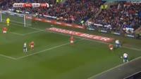 Aleksandar Mitrovic scores in the match Wales vs Serbia