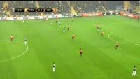 Moussa Sow scores in the match Fenerbahce vs Manchester United
