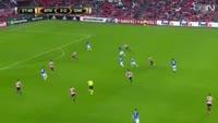 Leon Bailey scores in the match Ath Bilbao vs Genk