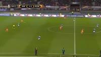 Edin Dzeko scores in the match Austria Vienna vs AS Roma