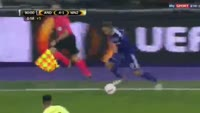Massimo Bruno scores in the match Anderlecht vs Mainz