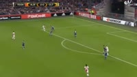 Amin Younes scores in the match Ajax vs Celta Vigo