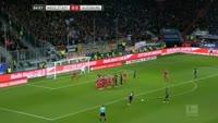 Raul Bobadilla scores in the match Ingolstadt vs Augsburg
