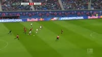 Timo Werner scores in the match RB Leipzig vs Mainz