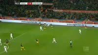 Marco Reus scores in the match Koln vs Dortmund