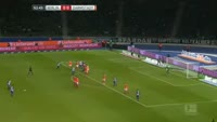 Marvin Plattenhardt scores in the match Hertha Berlin vs Darmstadt