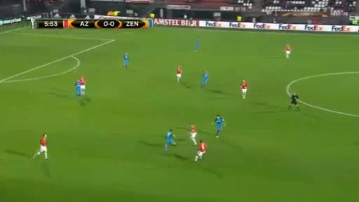 Alkmaar Zenit Petersburg goals and highlights