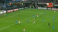 Ridgeciano Haps scores in the match AZ Alkmaar vs Zenit Petersburg
