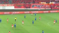 Alan Douglas Borges de Carvalho scores in the match Guangzhou Evergrande vs Chongqing Lifan