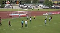 Mindaugas Grigaravicius scores in the match Jelgava vs Metta/LU