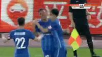 Roger Martinez scores in the match Jiangsu Suning vs Hebei China Fortune
