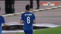 Trent Sainsbury scores in the match Jiangsu Suning vs Hebei China Fortune