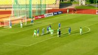 Karolis Silkaitis scores in the match FK Kauno Zalgiris vs FC Stumbras