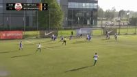 Roberts Uldrikis scores in the match Metta/LU vs BFC Daugavpils