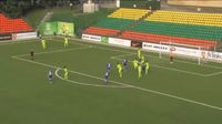 Vitali Polyanskiy scores in the match Trakai vs Utenis