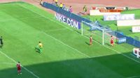 Denilson Gabionetta scores in the match Yanbian vs Hangzhou Greentown