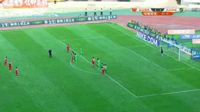 Bubacarr Trawally scores in the match Yanbian vs Hangzhou Greentown