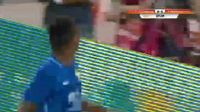 Joao Alves de Assis Silva scores in the match Shandong Luneng vs Jiangsu Suning
