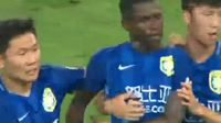 Ramires receives a red card in the match Shandong Luneng vs Jiangsu Suning
