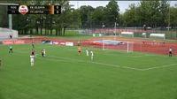 Mindaugas Grigaravicius scores in the match Jelgava vs FK Liepaja