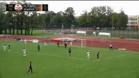 Kriss Karklins scores in the match Jelgava vs FK Liepaja