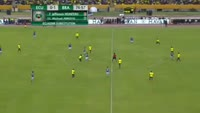 Juan Carlos Paredes receives a red card in the match Ecuador vs Brazil