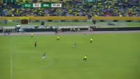 Gabriel Fernando de Jesus scores in the match Ecuador vs Brazil
