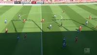 Vedad Ibisevic scores in the match Ingolstadt vs Hertha Berlin