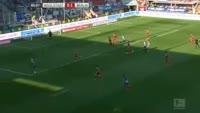 Julian Schieber scores in the match Ingolstadt vs Hertha Berlin