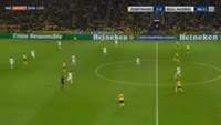 Andre Schurrle scores in the match Dortmund vs Real Madrid