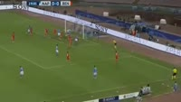 Marek Hamsik scores in the match Napoli vs Benfica