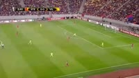 Rafael Santos Borre scores in the match FCSB vs Villarreal