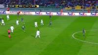 Fedor Smolov scores in the match Krasnodar vs Nice