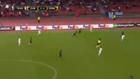 Dzengis Cavusevic scores in the match Zurich vs Osmanlispor FK
