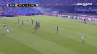 Daniel Wass scores in the match Celta Vigo vs Panathinaikos