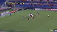 Kevin Strootman scores in the match AS Roma vs FC Astra