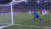 Federico Fazio scores in the match AS Roma vs FC Astra