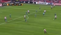 Benat Etxebarria scores in the match Ath Bilbao vs Rapid Vienna