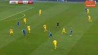 Alfred Finnbogason scores in the match Ukraine vs Iceland