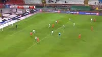 Filip Kostic scores in the match Serbia vs Ireland