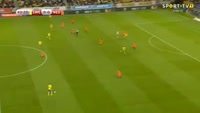 Marcus Berg scores in the match Sweden vs Netherlands