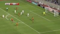 Yannick Carrasco scores in the match Cyprus vs Belgium