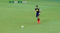 Marcos Aoas Correa scores own goal in the match Brazil vs Colombia