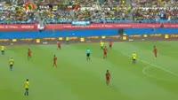 Pierre-Emerick Aubameyang scores in the match Gabon vs Guinea Bissau