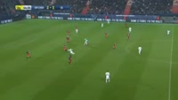Alexandre Lacazette scores in the match Caen vs Lyon