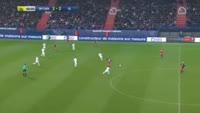 Ivan Santini scores in the match Caen vs Lyon
