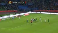 Kara Mbodji scores in the match Tunisia vs Senegal