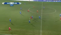 Kevin Vandendriessche scores in the match Oostende vs Genk